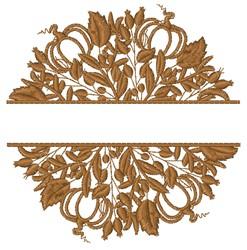 Split Fall Mandala embroidery design