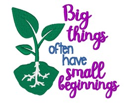 Big Things embroidery design