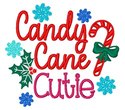 Candy Cane Cutie embroidery design
