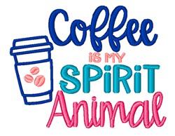Coffee Spirit Animal embroidery design