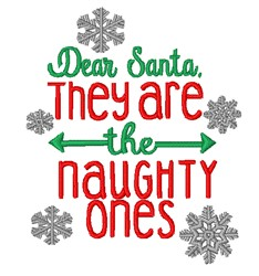 The Naughty Ones embroidery design