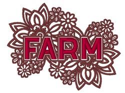 Farm Flowers embroidery design