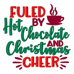 Fueled By Hot Chocolate embroidery design