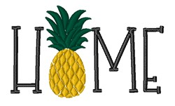 Home Pineapple embroidery design