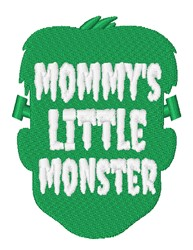 Mommys Little Monster embroidery design