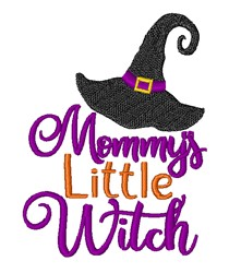 Mommys Little Witch embroidery design