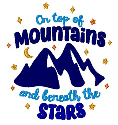 Top Of Mountains embroidery design