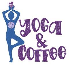 Yoga & Coffee embroidery design