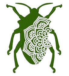 Beetle Mandala embroidery design
