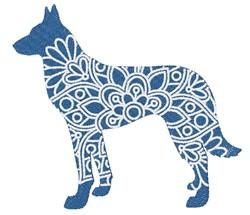 Belgian Malinois embroidery design