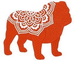 Bulldog Mandala embroidery design