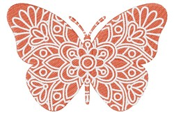 Butterfly Mandala embroidery design