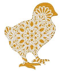 Chick Mandala embroidery design