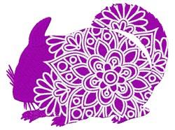 Chinchilla Mandala embroidery design