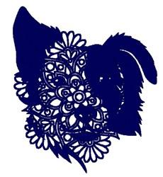 Dog Face Mandala embroidery design