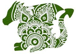 Dragon Mandala embroidery design