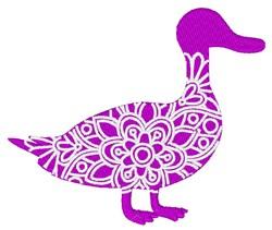 Duck Mandala embroidery design