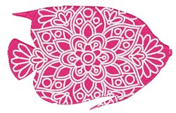 Fish Mandala embroidery design