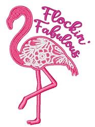 Flockin Fabulous embroidery design