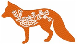 Fox Flowers embroidery design