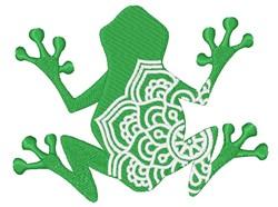 Frog Mandala embroidery design
