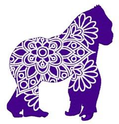 Gorilla Mandala embroidery design