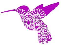 Hummingbird Mandala embroidery design