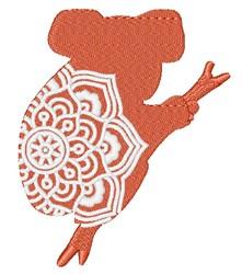 Koala Mandala embroidery design
