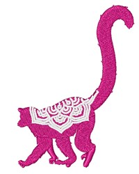 Mandala Lemur embroidery design