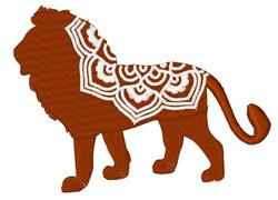 Lion Mandala embroidery design