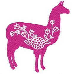 Llama Flowers embroidery design