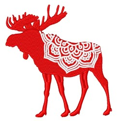 Moose Mandala embroidery design