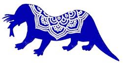 Otter Mandala embroidery design