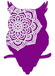 Owl Mandala embroidery design