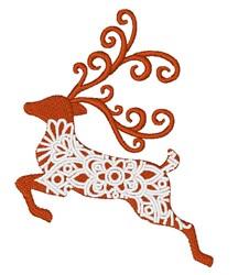 Reindeer Mandala embroidery design