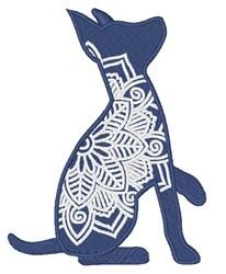 Mandala Rat Terrier embroidery design