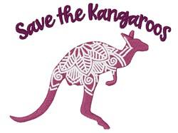 Save The Kangaroo embroidery design