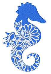 Seahorse Mandala embroidery design