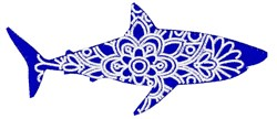 Shark Mandala embroidery design