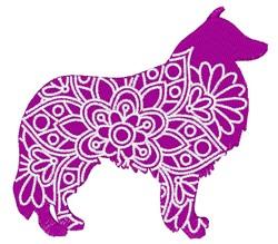 Sheltie Mandala embroidery design