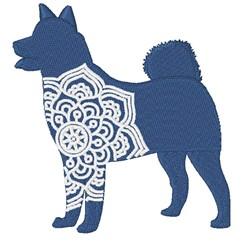 Shiba Inu Mandala embroidery design