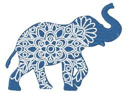 Elephant Mandala embroidery design