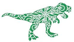 T-Rex Mandala embroidery design