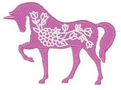 Unicorn Flowers embroidery design