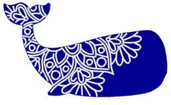 Whale Mandala embroidery design
