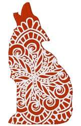 Wolf Mandala embroidery design