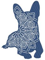 Chihuahua Mandala embroidery design