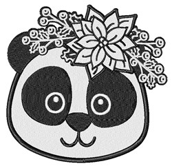 Christmas Panda embroidery design