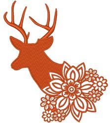 Floral Deer embroidery design