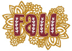 Floral Fall embroidery design